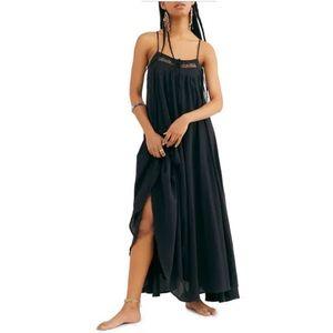 Free People mancora maxi dress black